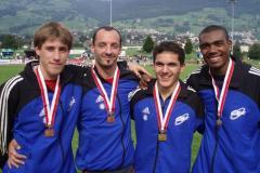 17.09.2006 - CA Fribourg champion suisse du 4x100m!