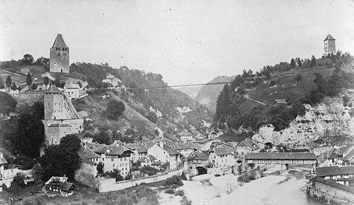 Pont du Gottéron au XIXème siècle